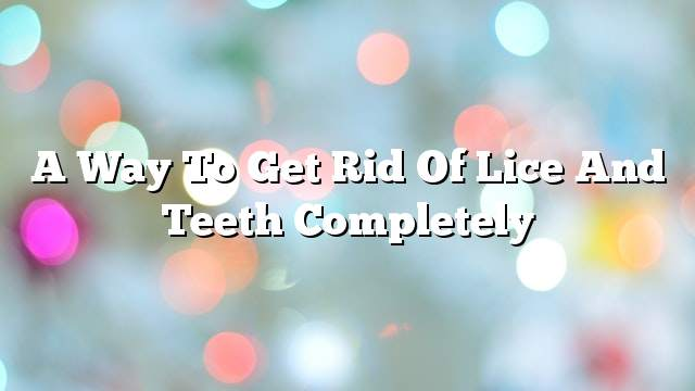A way to get rid of lice and teeth completely