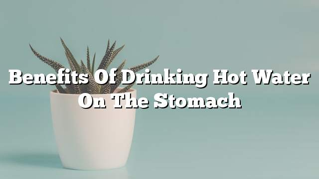 Benefits of drinking hot water on the stomach