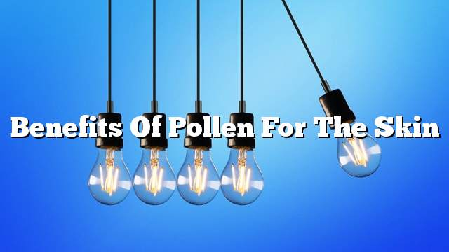 Benefits of pollen for the skin