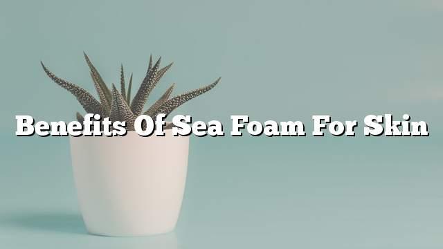 Benefits of sea foam for skin
