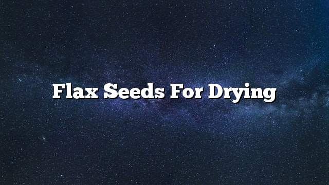 Flax seeds for drying