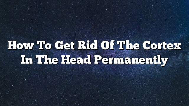 How to get rid of the cortex in the head permanently