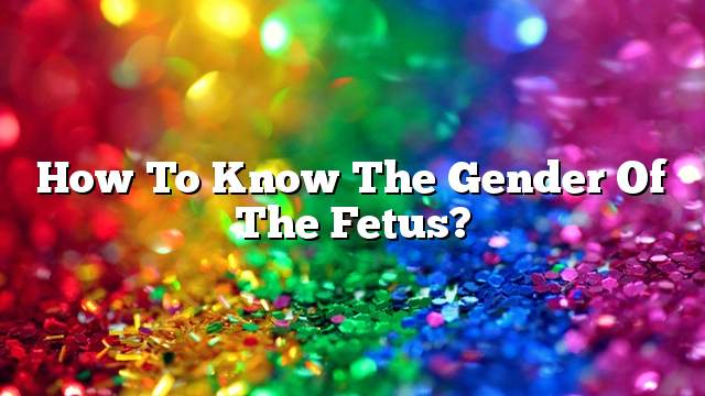 How to know the gender of the fetus?