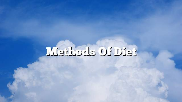 Methods of diet