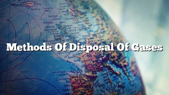 Methods of disposal of gases