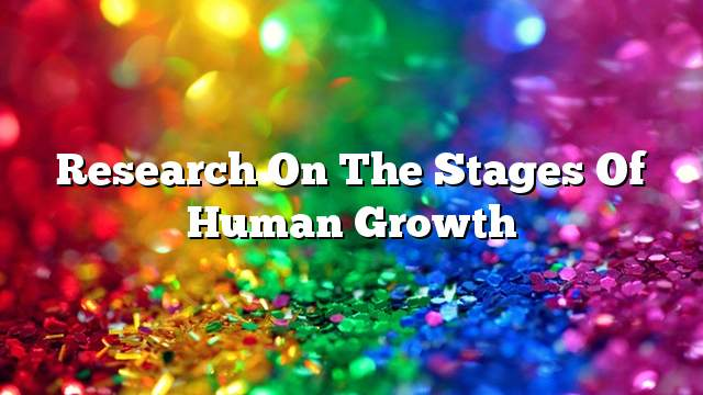 Research on the stages of human growth