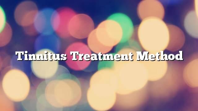 Tinnitus treatment method