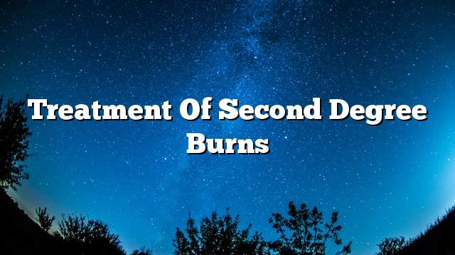 Treatment of second degree burns