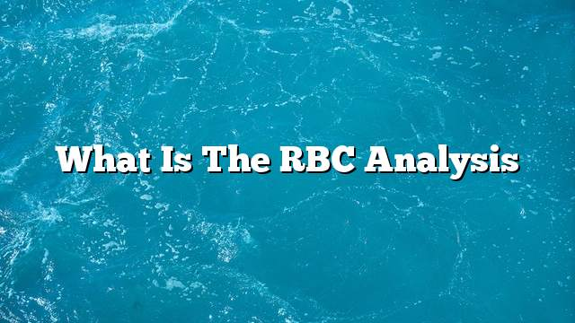 What is the RBC analysis